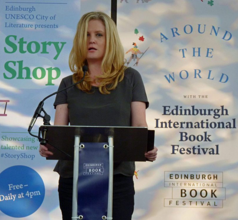 Carol Farrelly reading at Edinburgh Book Festival