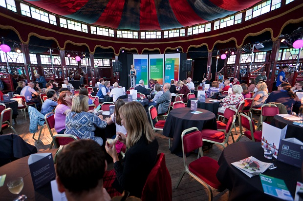 wideshot of audience in Spiegeltent