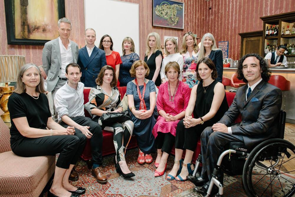 Shortlisted writers with judges and Penelope Wilton at the Royal Academy