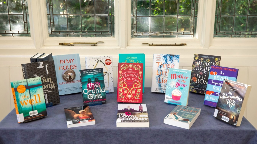 Table showcasing novels written by previous winning and shortlisted writers