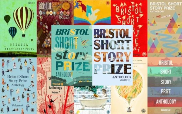 Collage of Bristol Prize anthology front covers